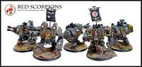 Conclave de Dreadnought de los Escorpiones Rojos