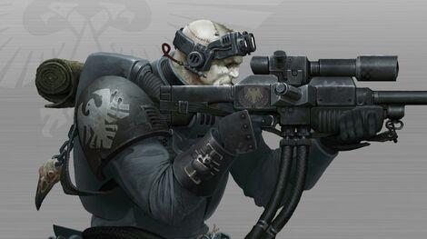 Explorador Francotirador Guardia del Cuervo Detalle