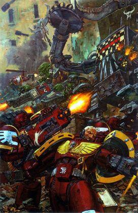 Ángeles Sangrientos Orkos batalla warhammer 40k.jpg