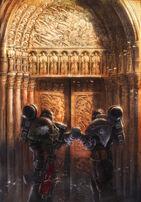 Hermanos Guardianes de la Muerte saludándose