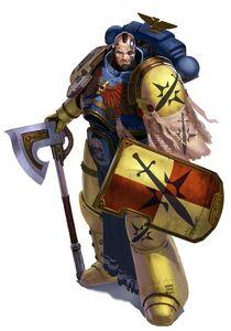 Precursores hermano de batalla escudo y hacha