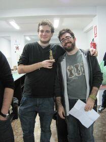 Festival de Espadas Madrid 2013 Wikihammer ganador juez.jpg