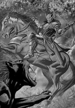 Preheejia caballero de caliban vs gran bestia.jpg