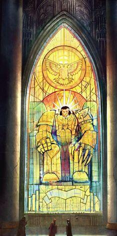 Emperador vidriera Eclesiarquía Warhammer 40k Culto Imperial.jpg
