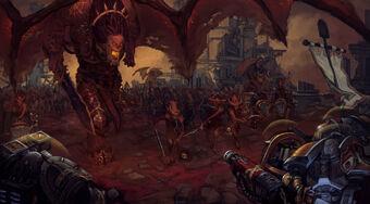 Angron Demonios Khorne Caballeros Grises Primera Guerra Armageddon.jpg