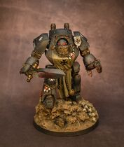 Miniatura dreadnought Contemptor Sigfried templarios