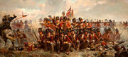28th-Foot-at-Quatre-Bras-16-June-1815-by-E.-Thompson-Lady-Butler-1846-to-1933