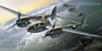 Academy 1/72 Lockheed P-38J Lightning
