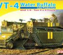Dragon Models 1/72 7389 LVT-4 Water Buffalo and 1/4 ton 4x4 Truck