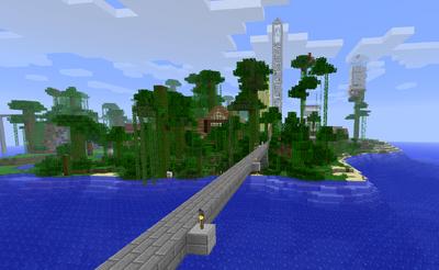 Minecraft skyline