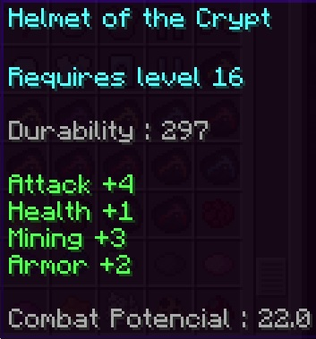 Helmet of the Crypt Stats