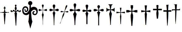 Dagger symbols