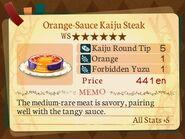 Stratum 6. Orange-Sauce Kaiju Steak