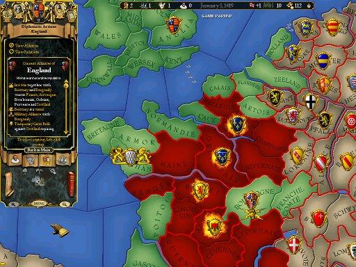 Diplomacy map mode alliances EUII