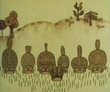 El-ahrairah and his friends eating grass