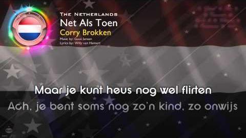 """1957 Corry Brokken - """"Net Als Toen"""" (The Netherlands)"""