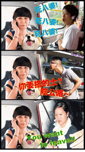 Kong girl with a dog funny