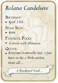 Rolana back card