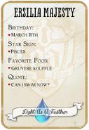 Ersilia Back Card