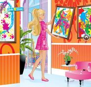 Barbie hanging painting