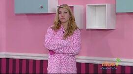 Maddie in a onesie