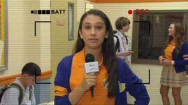 Gigi doing an interview