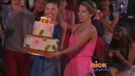 Maddie Sophie holding cake
