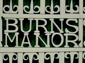 The Burns Manor Sign