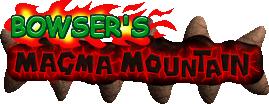 Bowser's Magma Mountain (logo)