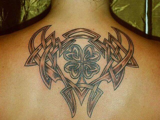 File:Irish celtic tattoo design on upperback body.jpg