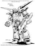 Comic Concept art Stealth Hunter 2
