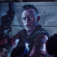 Mural of Miller after his death