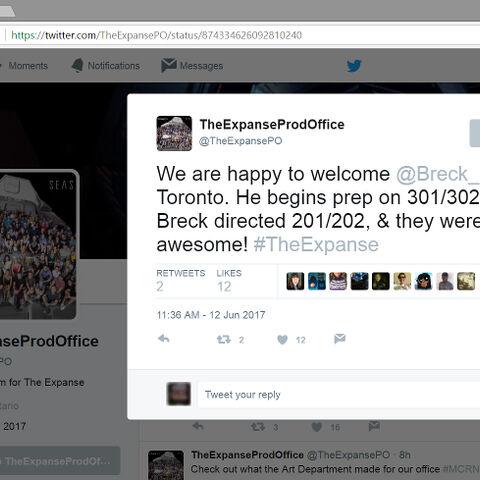 Breck Eisner will direct the season 3 opener