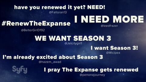 Expanse S3 excitement-Syfy