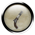 Steel flintlock pistol