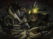 Chamber of Fate Fresco - Kraken