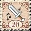 Stamp Swinging Sword