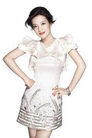 Zhao Wei White Sparking Dress1