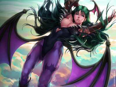 Darkstalkers-morrigan wallpaper by artgerm