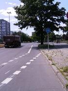 Radstreifen Groß-Ziethener Straße