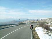 Ausblick beim Aufstieg zum Campo Imperatore