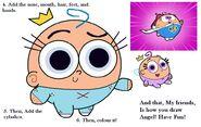 How 2 Draw Angel Callie Part 2JPG