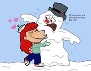 A hug is too hot for frosty by cookie lovey-d4hv9kc