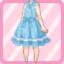 LE Retro Jumper Skirt blue