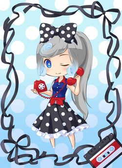 Retro Telephone Girl outfit