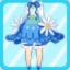 FFG Fluffy Bud Dress sky blue