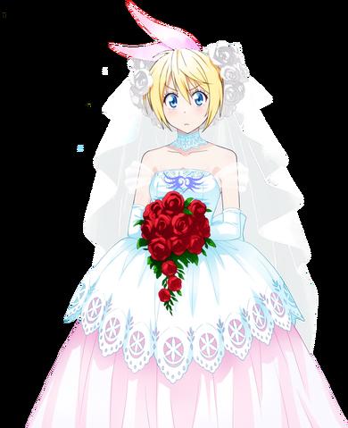 File:Nisekoi chitoge wedding dress render 2 by sharknex-d86wkjr.png