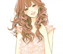 File:Gold eyes, brown and pink hair.jpg