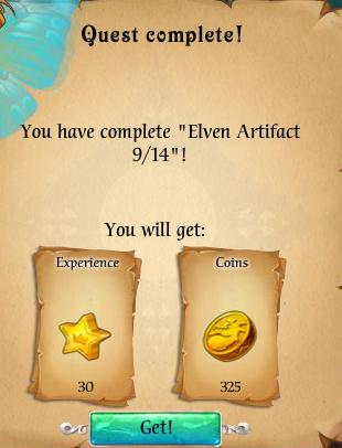 Fairy Kingdom --Elven Magic 9 of 14 reward