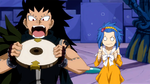 Gajeel wanting to eat the clock part
